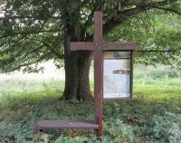 Cross as a memorial of the now defunct village Kamenné