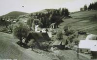 Defunct village Kamenné (Steingrund), where Inge Bahrová was born