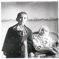 with his sister Hedvika