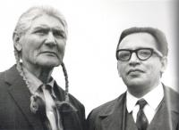 M. Stingl with Chief of the Indian Puebla Taos in New Mexico