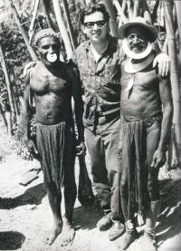 M. Stingl with Papuan people