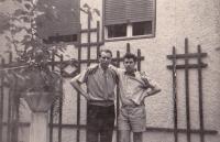 František Černý (right) with Karel Eichholzer, 1950s, Graz