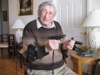 Harry Feinberg with a gun, New Jersey 2008