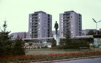 Komló, city center in the seventies