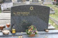 Grave of Oto Horovič at Jewish Cemetery at Prague-Strašnice