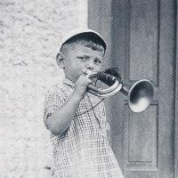 Jiří Anderle and his trumpet in Pavlíkov