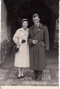 Maják se svou ženou Dagmar