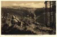 Historická pohlednice - Králický Sněžník s Lichtenštejnskou chatou