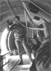 Mr. Foršt instructs on parachuting descents