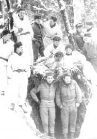 Winter training in Mrákotín (Mr. Foršt standing down on the left)
