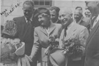 President Beneš with his wife Hana (with her autograph in the left hand corner)