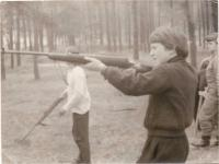 Hans Beimler competitions 1975 - best marksman of the class with 24 rings