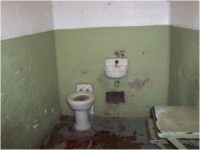 prison cell with sanitary facility