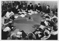 Roundtable meeting, the clubroom in Janáčkovo nábřeží