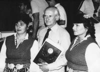 Boris Masník receiving an award