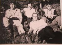 František Beneš (on the left) in Canada in 1950s