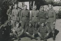 Pryluky city, Ukraine, 1945, Michal Javorcak in top row, first from the right