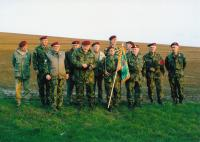 Josef Bartošek (third from right) with Parachute veterans Club in Hostišov