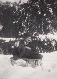 R. Docelek with his father, 1935