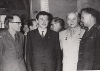 1965 Leningrad, Ant. Benes - chief CZ army surgeon on the right, Doleček second from left
