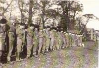 Brigade staff company n.50 in the launching area prior to the attack at Dunkerque.