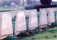 Military Cemetery in St. Omer-France. 199 soldiers and officers of the Czechoslovak foreign army lost their lives at Dunkerque.