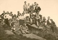 Sokol trip in 1947 - on right the father, Zdenek Mucha