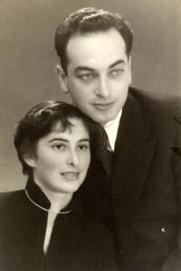 Abraham and Chava Pressburger in the 1950s