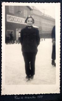 Eva Ginzová v Praze - konec prosince 1937