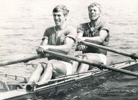 Double scull Josef Straka (in the front) and Vladek Lacina (in the back), 1974