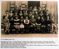 5th grade of the Jewish Grammar School in Brno - 1940/1941
