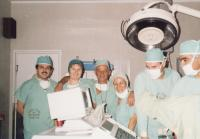 In hospital, 1997, Aviva fourth from left