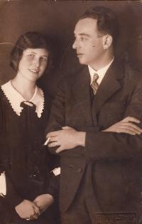 Rodiče Karel Pollak a Alice Pollaková, 20. léta