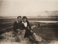 Dov Strauss with his wife Malka, 1945