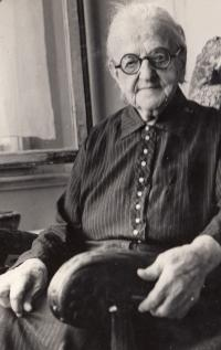 Grandmother Žofie Hechter, 1958