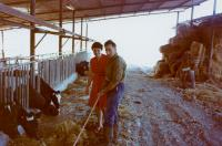 Dov Strauss in his farm, 70ies