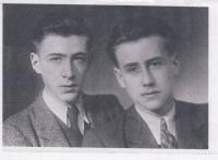 Karel Ellinger and his brother Jan before the WW2