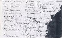 School photography 1940-941 with autographs of schoolmates