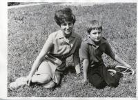With her son Vladimír