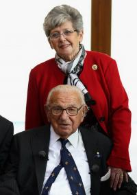 Lady Milena Grenfell Baines with Nicholas Winton