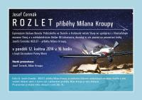 "Invitation to presentation of the book J. Cermak ""Rozlet"""