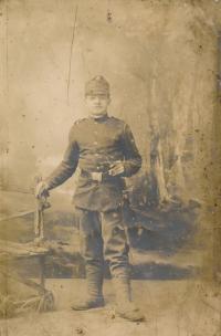 Josef Hušť, father in law of Stanislav Chromčák, in the army