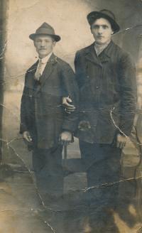 in the left Josef Hušť, father in law of Stanislav Chromčák
