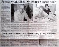 Článek o deníku Stanislava Chromčáka