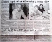 Article about Mr. Chromčák´s diary
