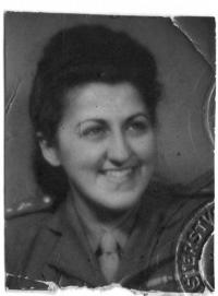 Mrs Koutná during the war