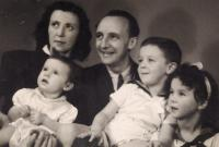 Pavla Kováčová with her husband and children