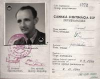 Identification card of Pavel Weisz/Kováč