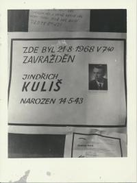 Jindřich Kuliš who was shot at the Town Hall's side entrance