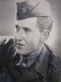 Karel Budil at military service in Marianske Lazne